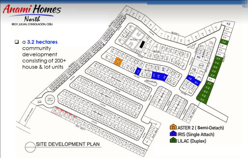 Anami Homes North map oct. 2020