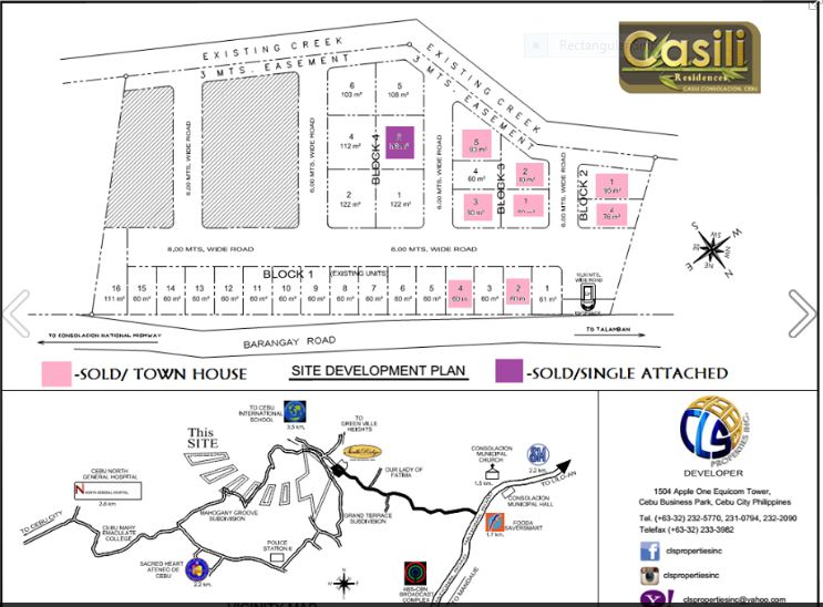 Casili Residences map july