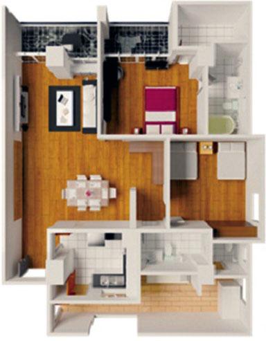 Queensland Manor 2 bed rm flr pln