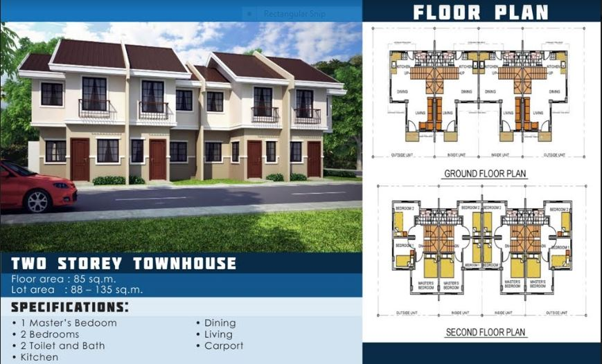 Anami Homes North floor plan townhouse