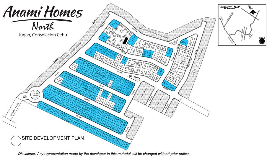 Anami Homes North map