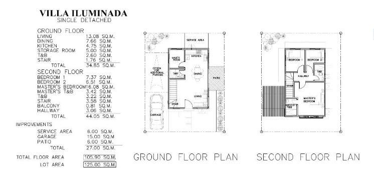 Villa Iluminada mactan floor plan 1