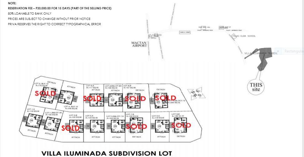 Villa Iluminada map jan. 2019