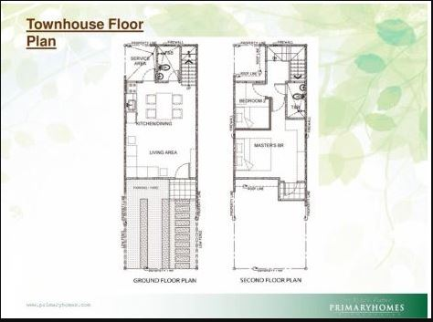 Almond Drive Townhouse floor plan