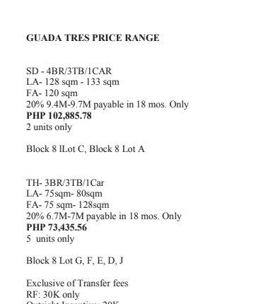 Guada Plains 3 price
