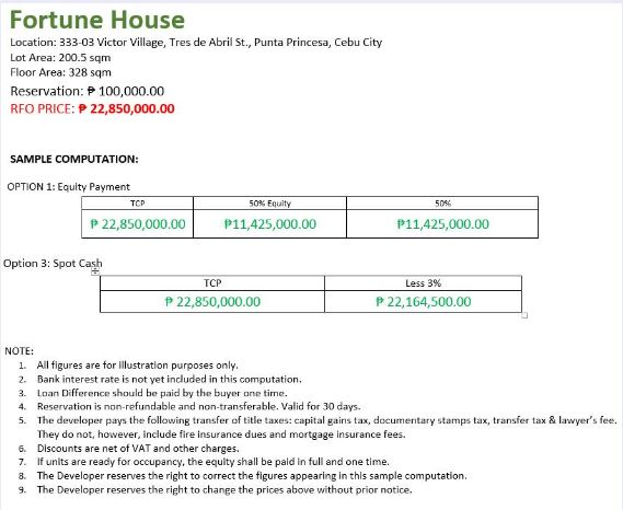Fortune House price jan. 2020