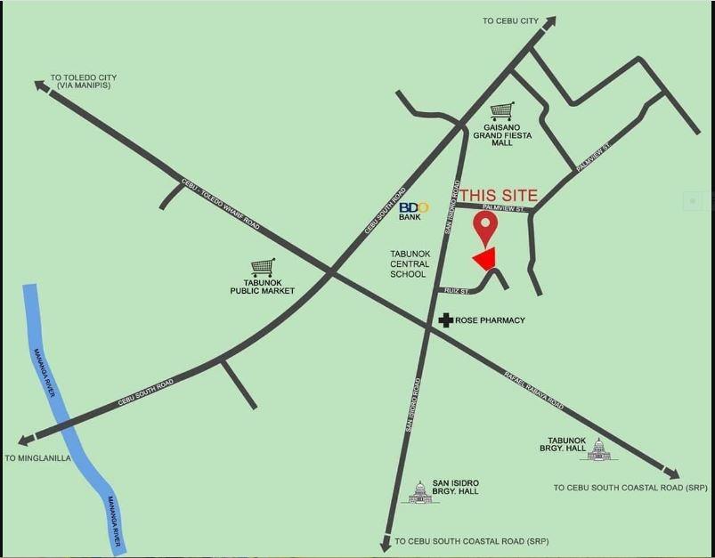 Amirra Residences tabunok vicinity map