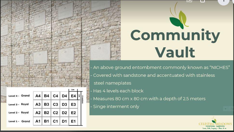 Celestial Meadows Compostela Community Vault
