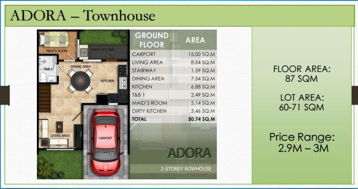 Modena Liloan Adora floor plan 1