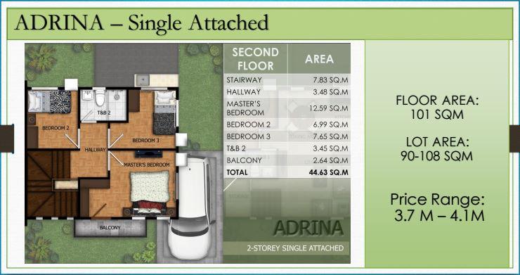 Modena Liloan Adrina floor plan 2