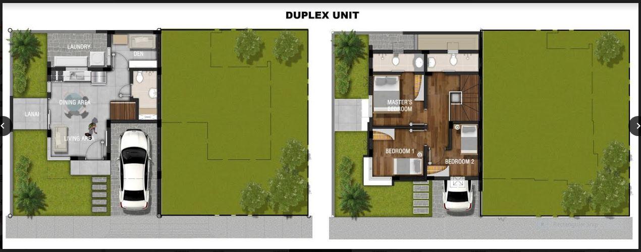 The Prestone duplex floor plan