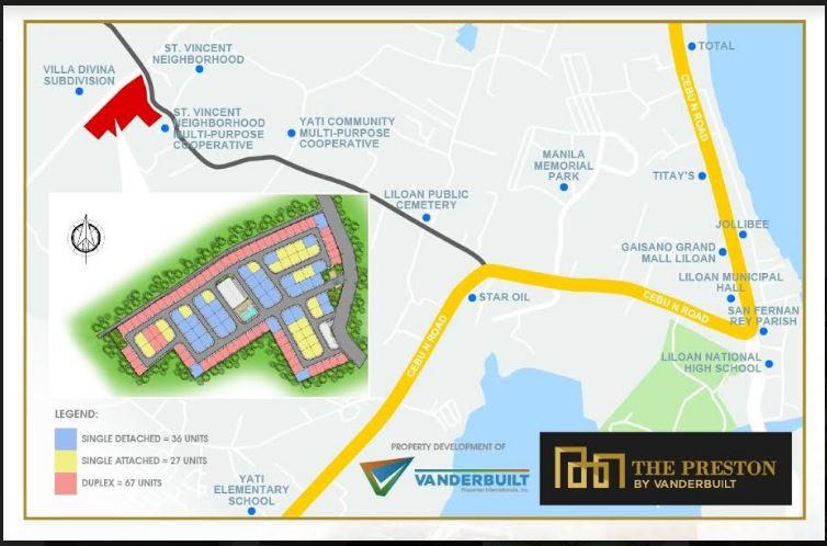 The Prestone location map